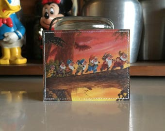 Seven Drawfs Disneyland Map Mini Wallet