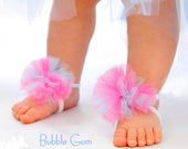 Baby Barefoot Sandals can be added to Flip Flops or worn as Hair Bows Perfect for baby newborn to 12m - Summer Sandals - Baby Sandals