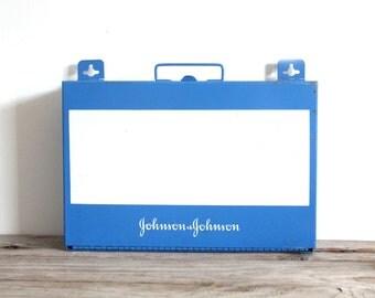 Blue Wall Mounted Medicine Cabinet Box w/ Shelf