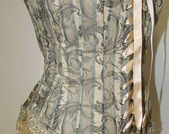"Victorian Over Bust Corset Full Body Medieval Renaissance Size 32-34"" Waist"
