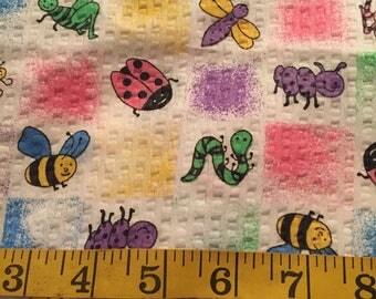 0.75 Yards of Bugs Seersucker Fabric
