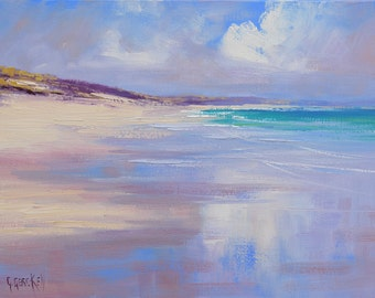 Beach print , painting prints, beach scene, beach picture , downloadable prints from my Original Oil Painting