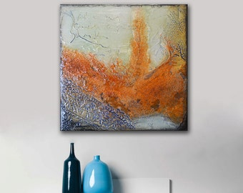 Original Painting, abstract painting, Small Abstract, Textured Original Painting, small gift, blue painting, original gift, unique painting