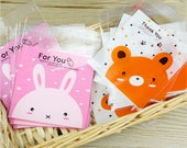 Self Adhesive Cello Bags. Gift Bags. Favor Bags. Plastic Bags. Bunny Rabbit. Teddy Bear. Easter.