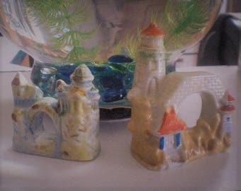 Vintage Ceramic Fish Tank or Planter Ornaments Made in Japan 1940-1950