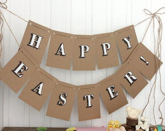 Happy Easter Bunting. Handmade Bunting. Easter Decorations. Easter Bunting. Easter Banner. Easter Party Decorations. Easter Decoration.