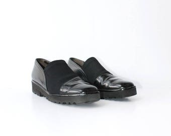 1990s Patent Leather Minimal Loafers