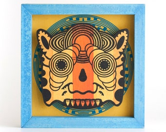 Screenprinted Ceremonial Mask - Orange