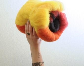 Catching Fire - Australian Merino Wool Art Batt 3.5oz