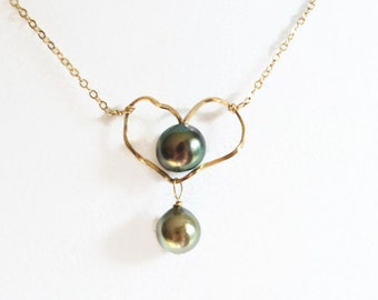Tahitian Pearl Heart Necklace