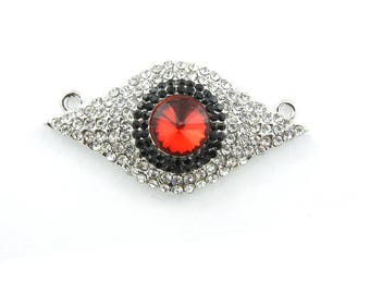 Double Link Rhinestone Red Eye Pendant Jewelry Supplies