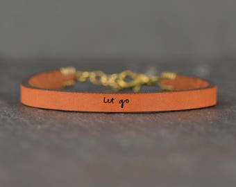 meaningful bracelet | stress relief gifts | minimalist jewelry | let go of what was | daily reminder jewelry | mantra bracelet | simple