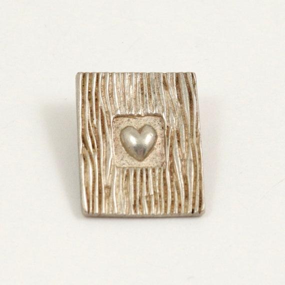 Vintage 925 Sterling Silver Framed Heart Pendant