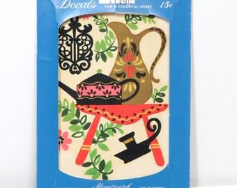 Vintage Meyercord Transfer Decal Unused, Folk Art Retro Kitchen X149C NOS