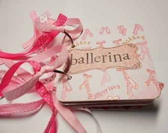 Ballet Mini Album Chipboard Scrapbook, Ballet Mini Album, Ballet Scrapbook, Ballet Photo Album, Ballet Brag Book, Dance, Ballet Album