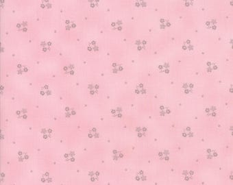 Lily Will Revisited Pink Gray flower fabric | Moda fabric 2807 23 | Cotton Quilting fabric