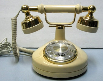 SALE Vintage Celebrity Rotary Telephone French Provincial Land Line Late 1970's to Early 1980's
