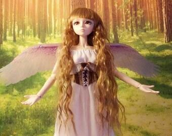1/3 OOAK Angel Wings for dolls - Crystal Purple