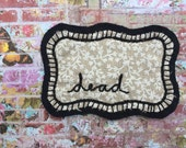 Cursive dead word hand embroidered fabric patch - sew on stitch on patch, cute patches, patchgame, custom patch, sew cute patch, cute flare