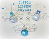 CUSTOM LISTING for JENNY - Set of 3 Stained Glass screen door saver bugs