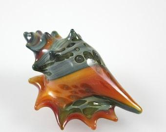 Lampwork Beads-Glass Boro-Conch-Cone Seashell-Pendant-Focal Bead-Ocean Sea Shell-Glass Sea shell-Lampwork Sea Shell-Handmade Glass
