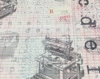 Tim Holtz Fabric by the Yard - Correspondence II - Typo in Neutral - Quilter's Cotton