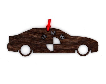 Wooden BMW 3 Series Ornament