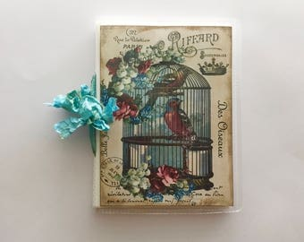 shabby French Bird Cage Altered Photo Album