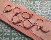 Small Leverback Ear Wires from Nunn Design in Antique Copper - 6 Count