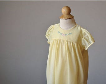 25% OFF SALE 1950s Buttercup Spring Dress~Size 6 Months