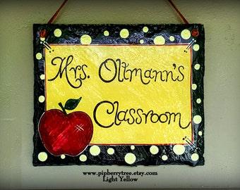 Personalized Teacher Gift Hand Painted Decorative Slate Sign/Gift For Teacher/Teacher Door Sign/Teacher Door Plaque/Teacher Door Hanger