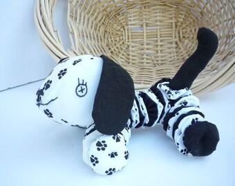 Yo Yo Puppy dog fabric quilt nursery toy decor k9 yoyo paws