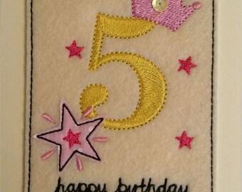 Age 5 - 5th Birthday Card