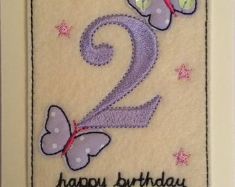Age 2 - 2nd Birthday Card