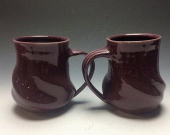 Burgundy Swirly Mug