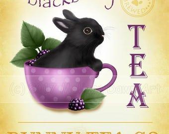 Bunny Art Print // Rabbit Art //  Blackberry Tea Bunny