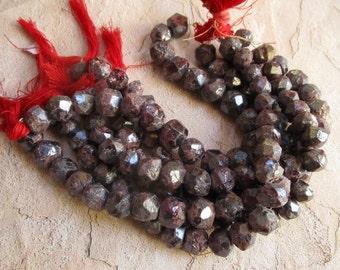 Sparkling Mystic Garnet Beads 10mm, Raw Natural Druzy Specimen Form red Gemstone Beads