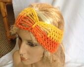 SALE - Golden Sprinkles Bow/Butterfly Accent Winter Earwarmer Headband
