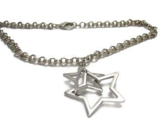 Double Up Star Chainmaille Necklace