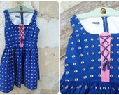 Reserverd to Erin Vintage 1970/70s Authentic Girl Dirndl Tyrol Austria German Dress  size 6/8 years
