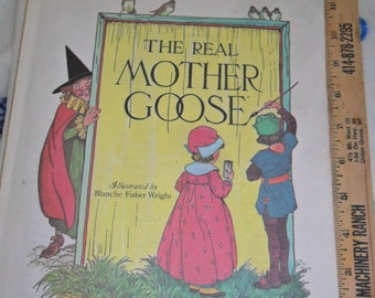 "Vintage ""The Real MOTHER GOOSE"" Softcover book"