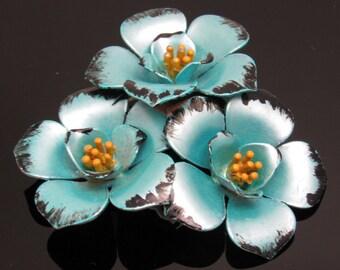 Vintage Flower Brooch Floral Jewelry