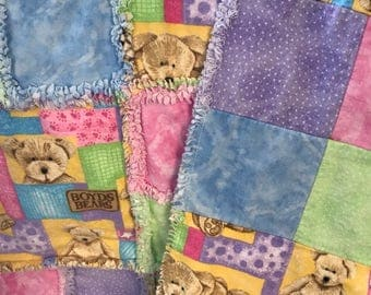 Boyds Bears Patchwork Quilt