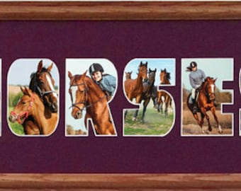 Horses Photo Collage (mat only) 8 x 26