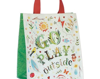ON SALE TODAY!!   Go Play Outside Reusable Tote Bag | Small Grocery Bag