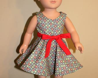 Circle dress for 18 inch doll