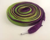 Hand Dyed Extra High Top Roller Derby Shoe Laces (72 inch length) That's Just Grape