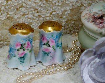 Handpainted Salt Pepper Shakers  Roses