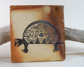 Pottery Anasazi Salt Fired Art Tile