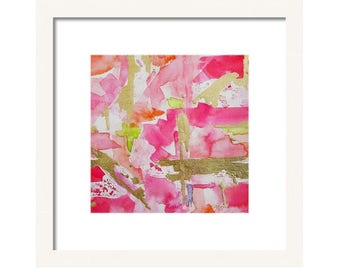 Pink Watercolor Abstract Art Print Wall Art, Pink Painting, Giclee Print, Child's Room, Nursery, Office Art Abstract Painting